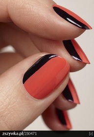 Just A Thin Outer Edge Really Brings These Two Contrasting Colours Together To Create High Fashion Nails