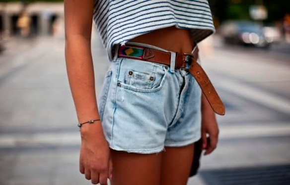 jean shorts:crop