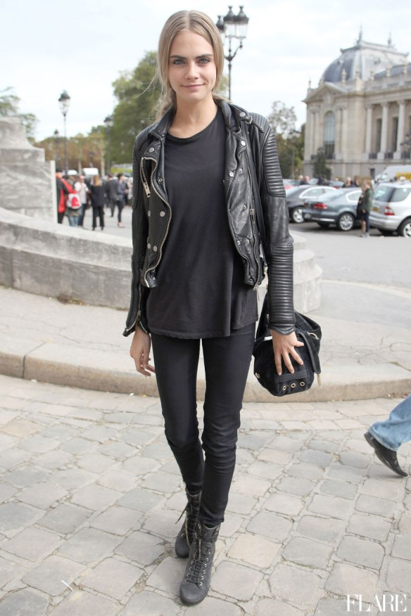 cara- black on black