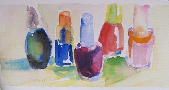water color nail polish