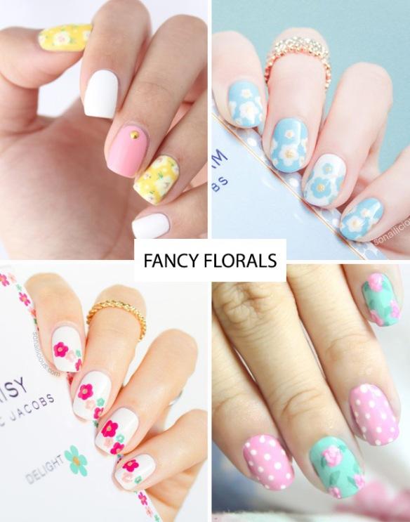Spring-nail-trends-floral-nail-art