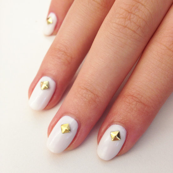 studded-nail-art-white-gold