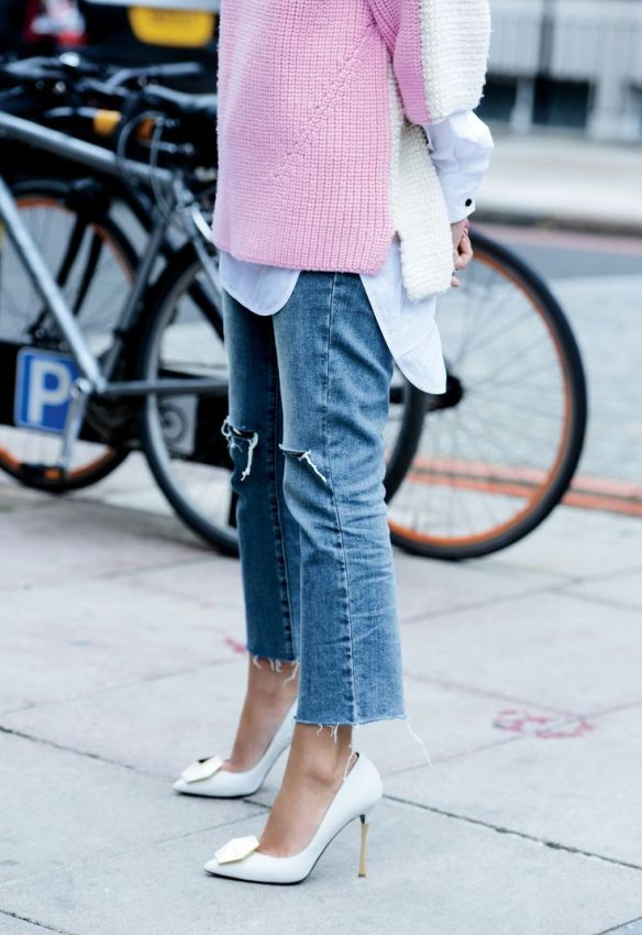 cropped-denim-frayed-denim-pink-and-white-white-heels-short-sleeve-sweater-white-oxford-spring-via-luckymag.tumblr.com_