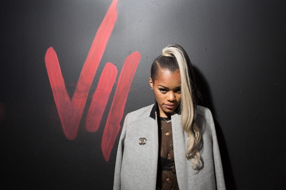 HOLLYWOOD, CA - OCTOBER 20:  (EXCLUSIVE COVERAGE) Recording artist Teyana Taylor attends her VII listening event presented by Def Jam, GOOD Music and MVD Inc at Siren Studios on October 20, 2014 in Hollywood, California.  (Photo by Chelsea Lauren/WireImage)